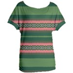 Bubbly Lines Green Pink Women s Oversized Tee