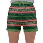 Bubbly Lines Green Pink Sleepwear Shorts