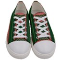 Bubbly Lines Green Pink Women s Low Top Canvas Sneakers View1
