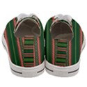 Bubbly Lines Green Pink Women s Low Top Canvas Sneakers View4