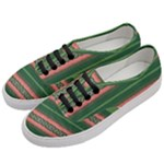 Bubbly Lines Green Pink Women s Classic Low Top Sneakers