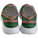 Bubbly Lines Green Pink Women s Lightweight Slip Ons View4