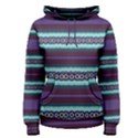 Bubbly Lines Purple Maroon Blue Women s Pullover Hoodie View1