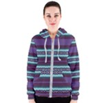 Bubbly Lines Purple Maroon Blue Women s Zipper Hoodie