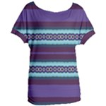Bubbly Lines Purple Maroon Blue Women s Oversized Tee
