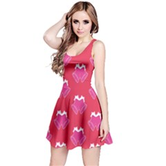 Christmas Red Pattern Reasons Reversible Sleeveless Dress
