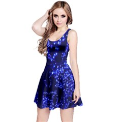Lights Blue Tree Night Glow Reversible Sleeveless Dress