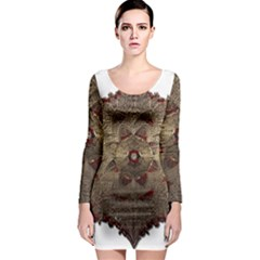 Jewelry Jewel Gem Gemstone Shine Long Sleeve Bodycon Dress