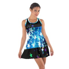 Star Abstract Background Pattern Cotton Racerback Dress