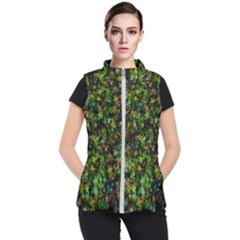 Star Abstract Advent Christmas Women s Puffer Vest by Sapixe