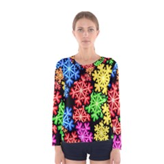 Wallpaper Background Abstract Women s Long Sleeve Tee by Sapixe
