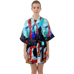 Roundway Ticket 8 Quarter Sleeve Kimono Robe by bestdesignintheworld