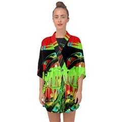 Quiet Place Half Sleeve Chiffon Kimono by bestdesignintheworld