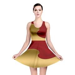Background Banner Festive Wave Reversible Skater Dress