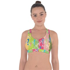 Question Mark Problems Clouds Cross String Back Sports Bra by Sapixe