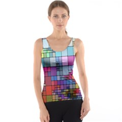 Color Abstract Visualization Tank Top