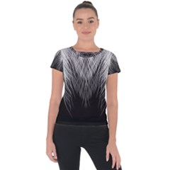 Feather Graphic Design Background Short Sleeve Sports Top  by Sapixe