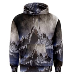 Mountains Moon Earth Space Men s Pullover Hoodie