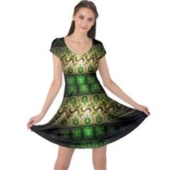 Fractal Art Digital Art Cap Sleeve Dress