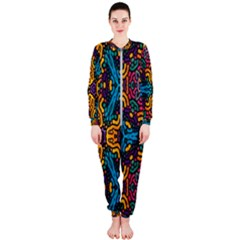 Grubby Colors Kaleidoscope Pattern Onepiece Jumpsuit (ladies)  by Sapixe
