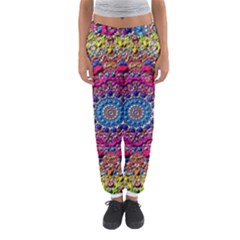Background Fractals Surreal Design Women s Jogger Sweatpants