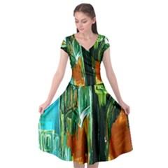 Ceramics Of Ancient Land 2 Cap Sleeve Wrap Front Dress by bestdesignintheworld