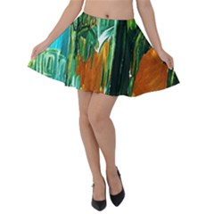 Ceramics Of Ancient Land 2 Velvet Skater Skirt by bestdesignintheworld