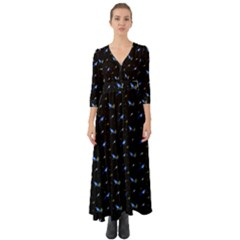 Magpies And Mistletoe Button Up Boho Maxi Dress by greenthanet