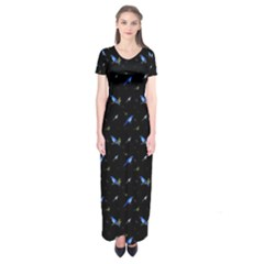 Magpies Short Sleeve Maxi Dress by greenthanet