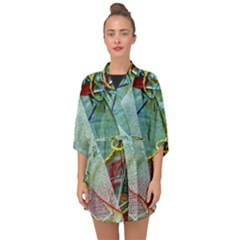 Hidde Strings Of Purity 2 Half Sleeve Chiffon Kimono by bestdesignintheworld