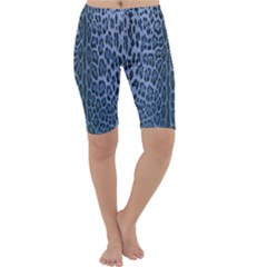 Blue Leopard Print Cropped Leggings  by CasaDiModa