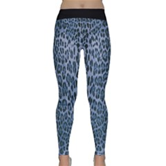 Blue Leopard Print Classic Yoga Leggings by CasaDiModa