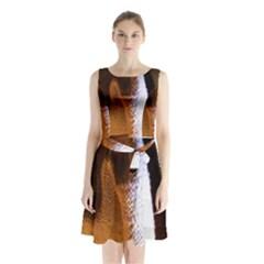 Colors And Fabrics 28 Sleeveless Waist Tie Chiffon Dress by bestdesignintheworld