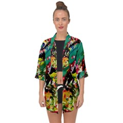 Tulips First Sprouts 2 Open Front Chiffon Kimono