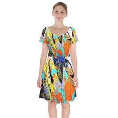 Africa  Kenia Short Sleeve Bardot Dress