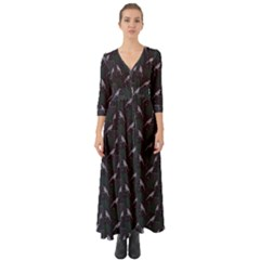 Magpies Button Up Boho Maxi Dress by greenthanet