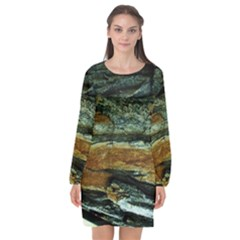 Tree In Highland Park Long Sleeve Chiffon Shift Dress  by bestdesignintheworld