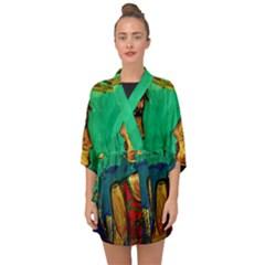 Young Witches Half Sleeve Chiffon Kimono by bestdesignintheworld