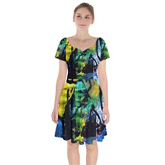 Rumba On A Chad Lake 10 Short Sleeve Bardot Dress by bestdesignintheworld