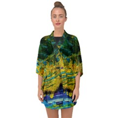 One Minute Egg 4 Half Sleeve Chiffon Kimono by bestdesignintheworld