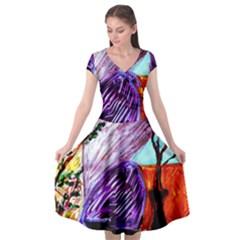 House Will Be Built 10 Cap Sleeve Wrap Front Dress by bestdesignintheworld