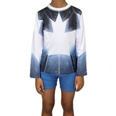 Portrait Panther Kids  Long Sleeve Swimwear by Modern2018