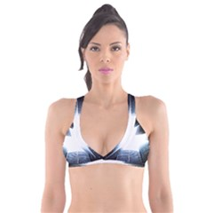 Portrait Panther Plunge Bikini Top by Modern2018