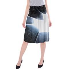 Portrait Panther Midi Beach Skirt by Modern2018