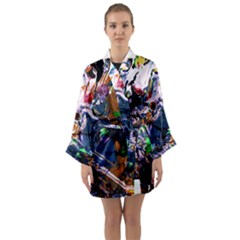 Jealousy   Battle Of Insects 6 Long Sleeve Kimono Robe by bestdesignintheworld
