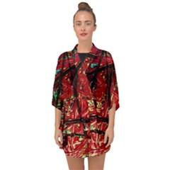 Sacred Marks Half Sleeve Chiffon Kimono by bestdesignintheworld