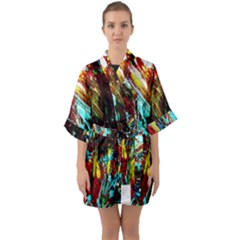 Two Hearts   One Beat 4 Quarter Sleeve Kimono Robe by bestdesignintheworld
