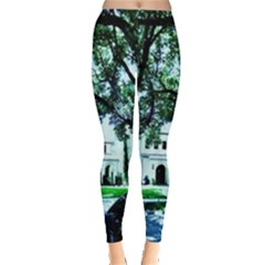 Hot Day In Dallas 16 Leggings  by bestdesignintheworld