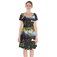Highland Park 10 Short Sleeve Bardot Dress by bestdesignintheworld