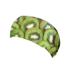 Sliced And Open Kiwi Fruit Yoga Headband by goodart